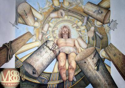 Volare Significa Credere, Aurea Resurrezione - 2014 - 100X70 cm - Pastello