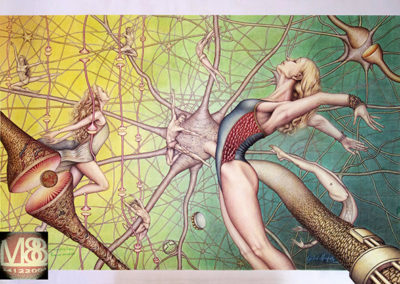 Volare Significa Credere, Paradiso Sinaptico - 2015 - 100x70 cm - Pastello
